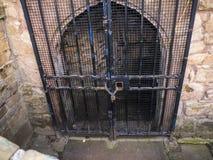 Den Lancaster slotten och det tidigare fängelset i England är i mitten av staden Royaltyfri Foto
