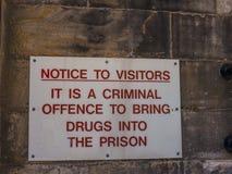 Den Lancaster slotten och det tidigare fängelset i England är i mitten av staden royaltyfri fotografi