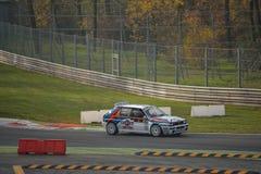 Den Lancia deltan samlar bilen på Monza Royaltyfri Fotografi