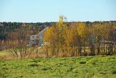Den lantliga hösten landskap Arkivfoto
