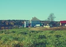 Den lantliga hösten landskap Royaltyfri Bild