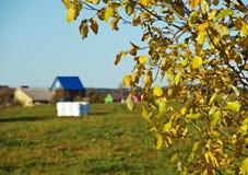 Den lantliga hösten landskap Royaltyfri Foto