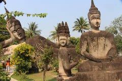 Den Laos Buddha parkerar Vientiane royaltyfria foton