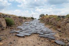 Den lappade vägen till fördärvar av greken - romersk stad av det 3rd århundradet F. KR. - den 8th århundradeANNONSEN Hippus - Sus Royaltyfria Foton