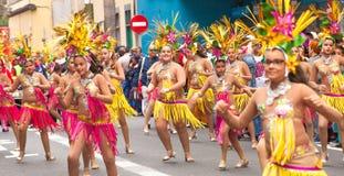 Den Las Palmas de Gran Canaria barnkarnevalet ståtar 2015 royaltyfri foto