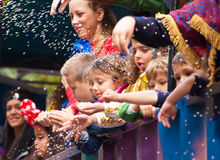 Den Las Palmas de Gran Canaria barnkarnevalet ståtar 2015 Royaltyfri Fotografi