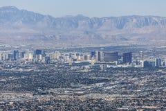 Den Las Vegas remsan och rött vaggar kanjonmedborgarenaturvårdsområde Royaltyfri Foto