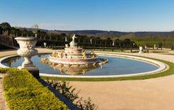 Den Latona springbrunnen i trädgården av Versailles i Frankrike Fotografering för Bildbyråer