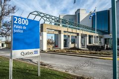 Den Laval domstolsbyggnaden Arkivbilder