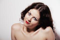 Den le flickan med naket knuffar Royaltyfria Bilder