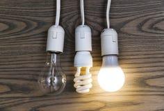 Den LEDDE lampan sparar pengar Fotografering för Bildbyråer