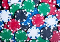 Den leka poker gå i flisor bakgrund Arkivfoto