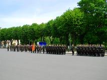 Den lettiska armén ståtar Arkivfoton