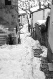 Den lilla byn av Pescocostanzo i den Abruzzo regionen Royaltyfri Foto