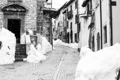 Den lilla byn av Pescocostanzo i den Abruzzo regionen Fotografering för Bildbyråer