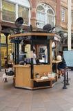 Den lilla coffee shop i Leeds Arkivbilder