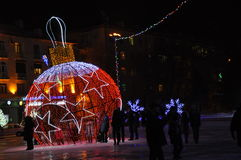 Den lilla ljusa julnatten skissar Arkivbild
