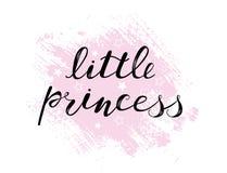Den lilla prinsessan behandla som ett barn bokstävercitationstecknet, ungar planlägger royaltyfri illustrationer