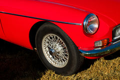 Den lilla röda bil- tappningen royaltyfria bilder