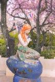 Den lilla sjöjungfrun från boken för Hans Christian Andersen ` s under Arkivfoto