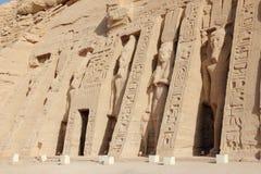 Den lilla templet av Nefertari abuegypt simbel royaltyfria bilder