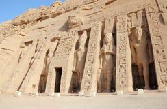 Den lilla templet av Nefertari abuegypt simbel royaltyfri foto