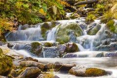 Den lilla vattenfallet parkerar in med härligt slätar vatten Liten wat Fotografering för Bildbyråer