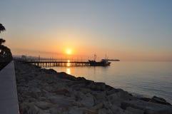 Den Limassol marina i Cypern Arkivbilder
