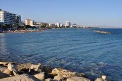 Den Limassol marina i Cypern Arkivbild