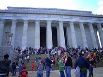 Den Lincoln Memorial Washington DCEN Arkivfoto
