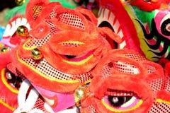 Den Lion Head maskeringen för Lion Dance i Vietnam Royaltyfri Bild