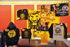 Den Lion King musikalen på den Minskoff teatern i New York City Arkivbilder
