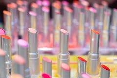 Den lipstic färgen royaltyfri fotografi