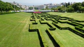 Den Lissabon staden parkerar Arkivfoton