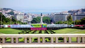 Den Lissabon staden parkerar Fotografering för Bildbyråer