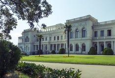 Den Livadia slotten och parkerar, Krim Arkivbild
