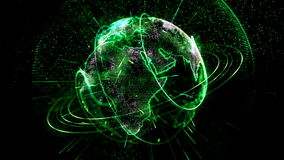 Den livliga planeten roterar gräsplan arkivfilmer