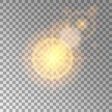 Den ljusa högkvalitativa guld- modellen med effekten av solljus, gör perfekt för det nya året och julen Planlade att ställa in et Royaltyfria Bilder