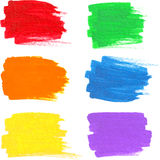 Den ljusa regnbågen färgar vektormarkörfläckar Arkivbild