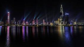 Den ljusa showen i den Shenzhen talangen parkerar, KINA royaltyfri bild