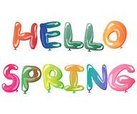 Den ljusa springcardmallen Hello fjädrar Royaltyfria Foton