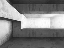 Den ljusa tomma baneraffischtavlan i mörka betongväggar hyr rum interio Royaltyfri Foto