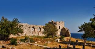 Den Logothetis slotten i Samos arkivbild
