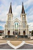 Den lokala thailändska kyrkan Fotografering för Bildbyråer