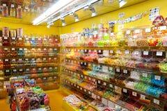 Den Lollypop godisen shoppar på Bern på Schweiz Royaltyfria Foton