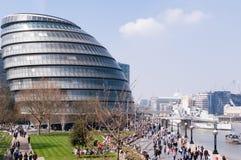Den London stadshusbyggnaden Arkivbild