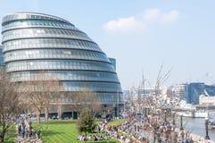 Den London stadshusbyggnaden Fotografering för Bildbyråer