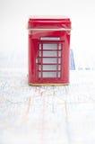Den london telefonkabinen Arkivbild