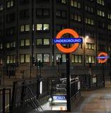 Den London tunnelbanan undertecknar Royaltyfri Fotografi