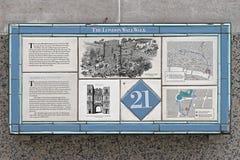 Den London väggen går Arkivbilder